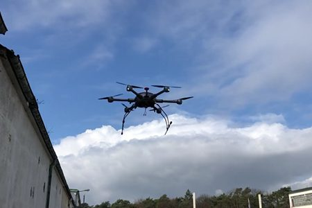 Drohnenflug - Prototyp unserer Lieferdrohne